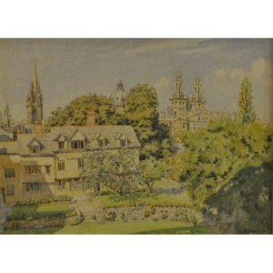 Bernard Cecil Gotch Oriel College watercolour 2