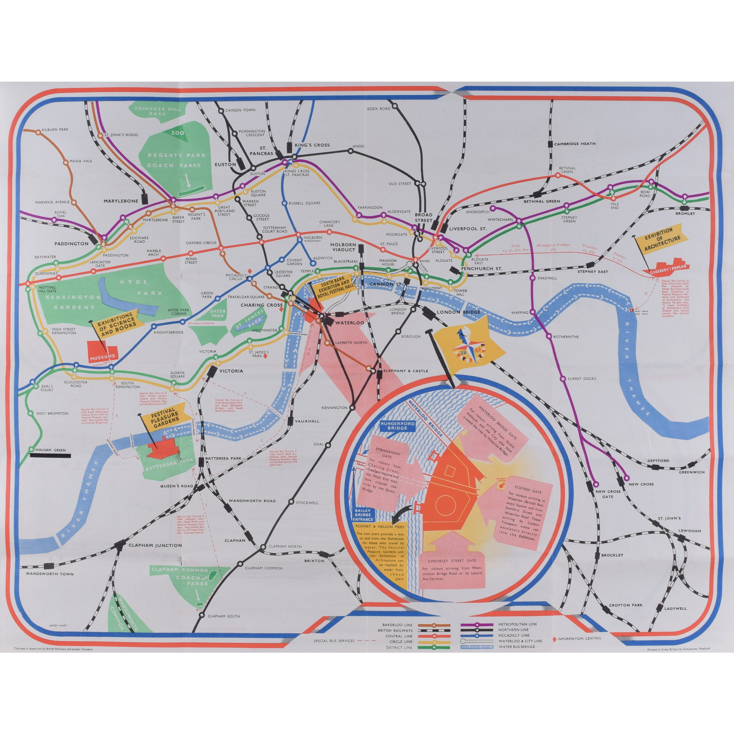Festival of Britain map 1951