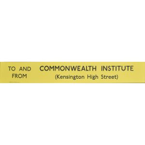 Commonwealth Institute Routemaster Slipboard Poster c1970