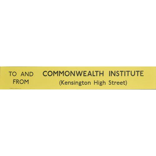 Commonwealth Institute Routemaster Slipboard Poster c1970