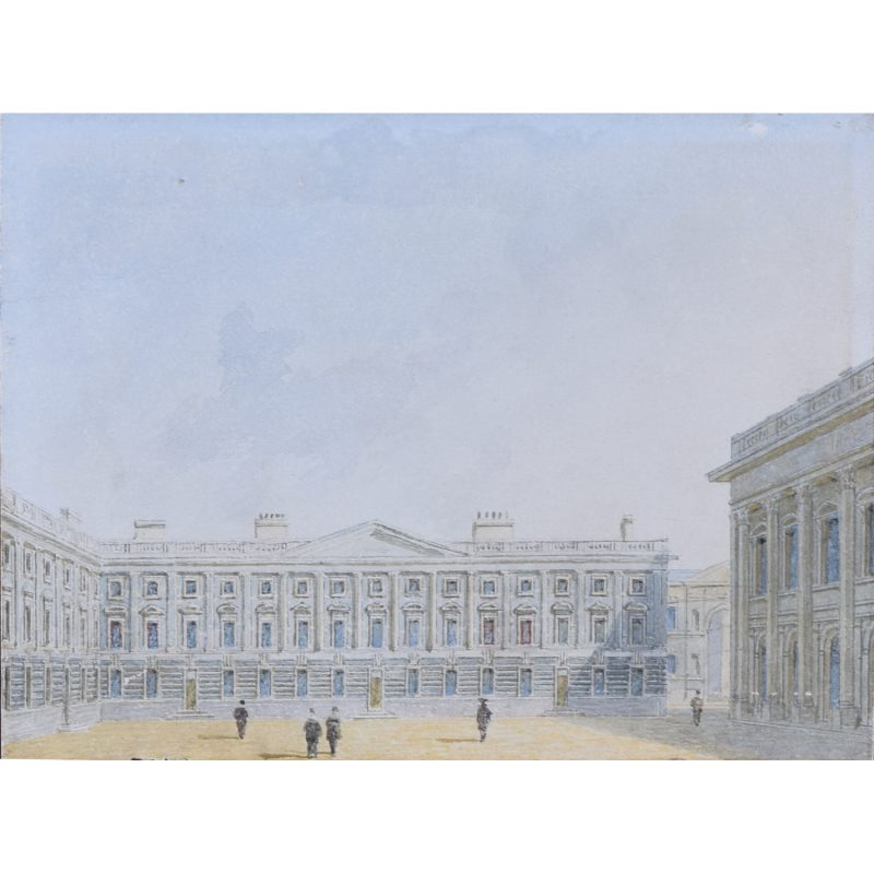 George Pyne Peckwater Quad Christ Church Oxford watercolour for sale