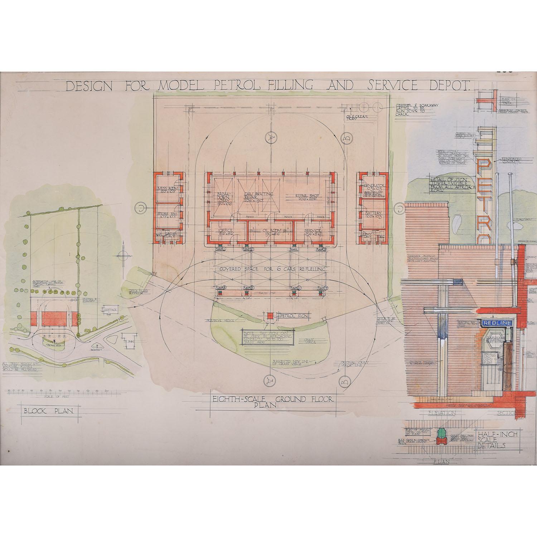 Hubert H. Clark Design for Model Filling and Servicing Depot