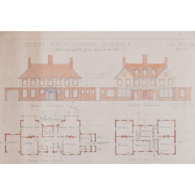 Hubert H. Clark Design for a Country House