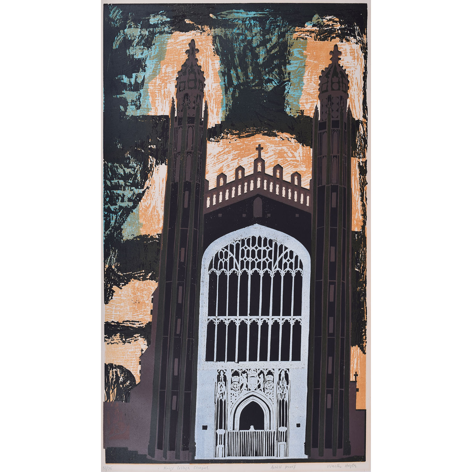Walter Hoyle King's College Chapel West End Cambridge