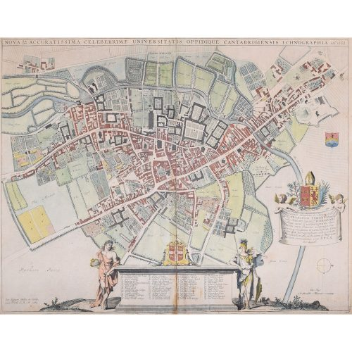 David Loggan Map of Cambridge