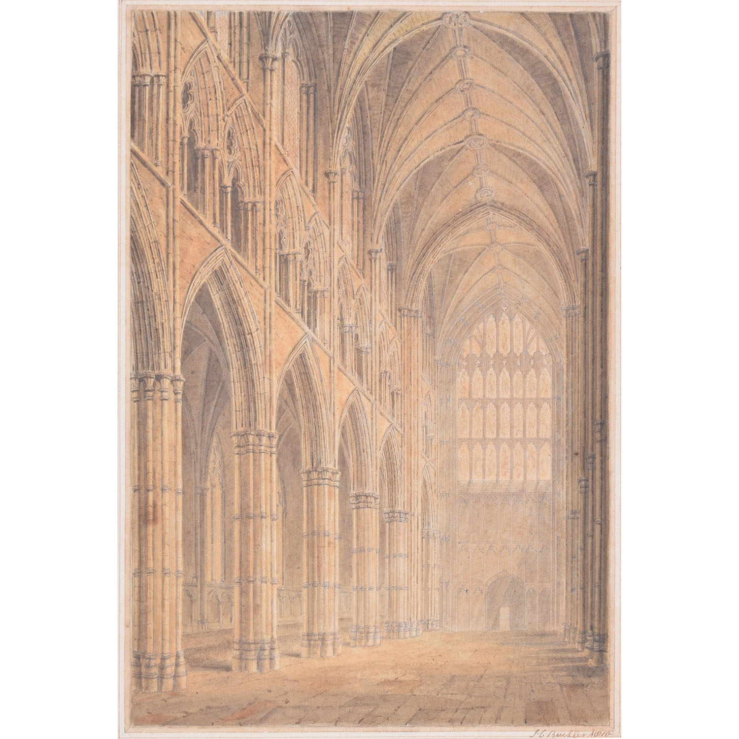 J C Buckler The Nave of Westminster Abbey