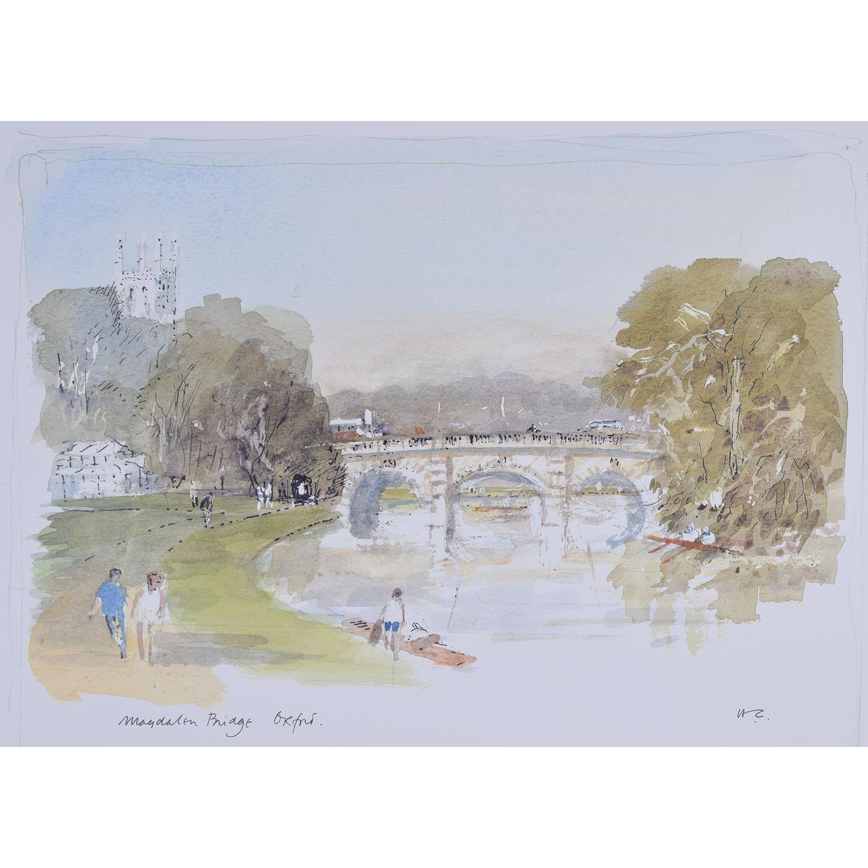 Hugh Casson Magdalen Bridge Oxford