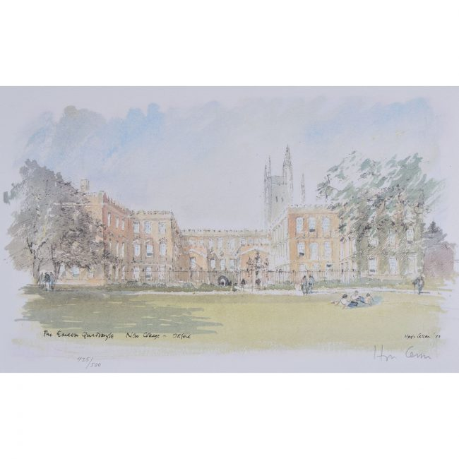 Hugh Casson New College Oxford Garden Quad