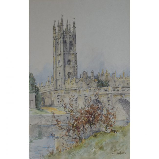 G F Nicholls Magdalen College from the Chairwell, Oxford