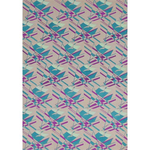 Macadam Seagull and Sailing Boat Wallpaper Design