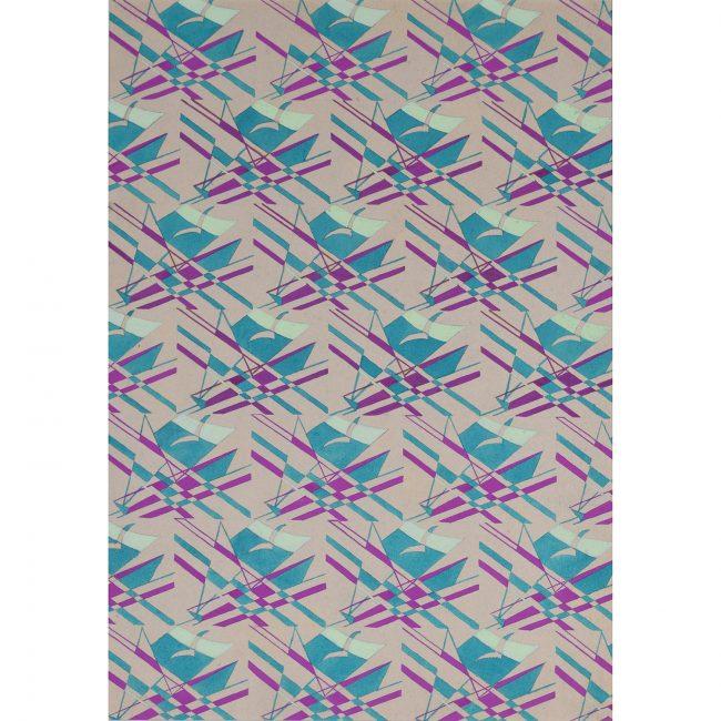 Macadam Seagull and Sailing Boat Wallpaper Design