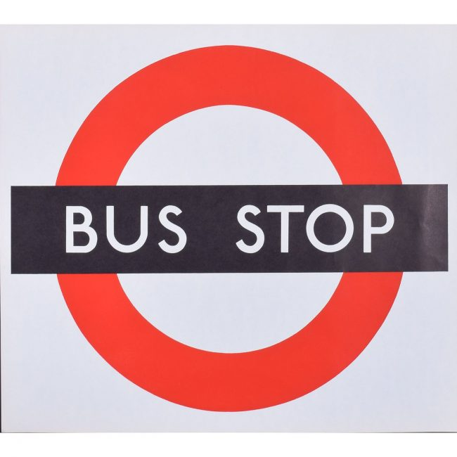 London Transport Bus Stop Poster