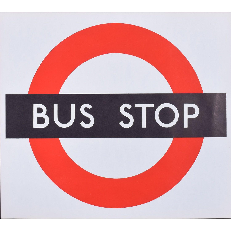 London Transport Bus Stop Poster