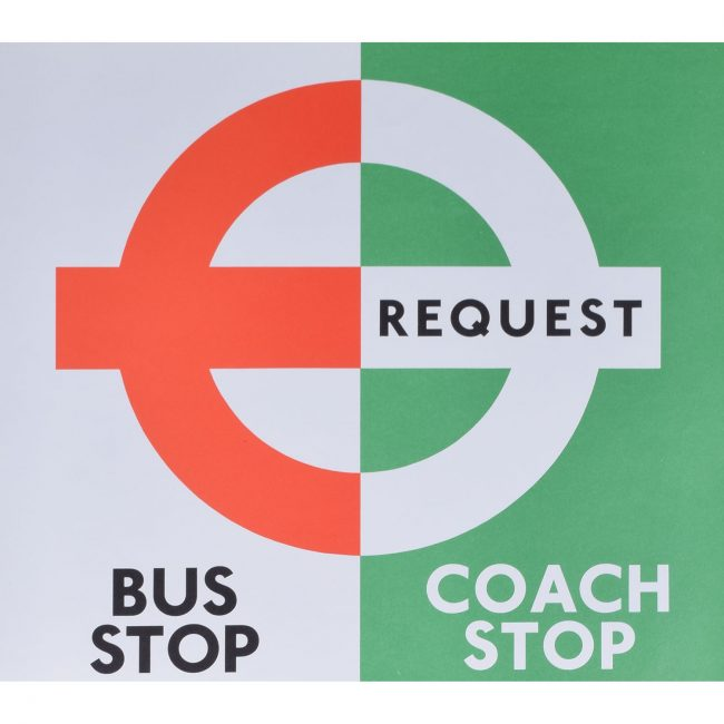 London Transport Coach Stop/ Bus Stop Poster