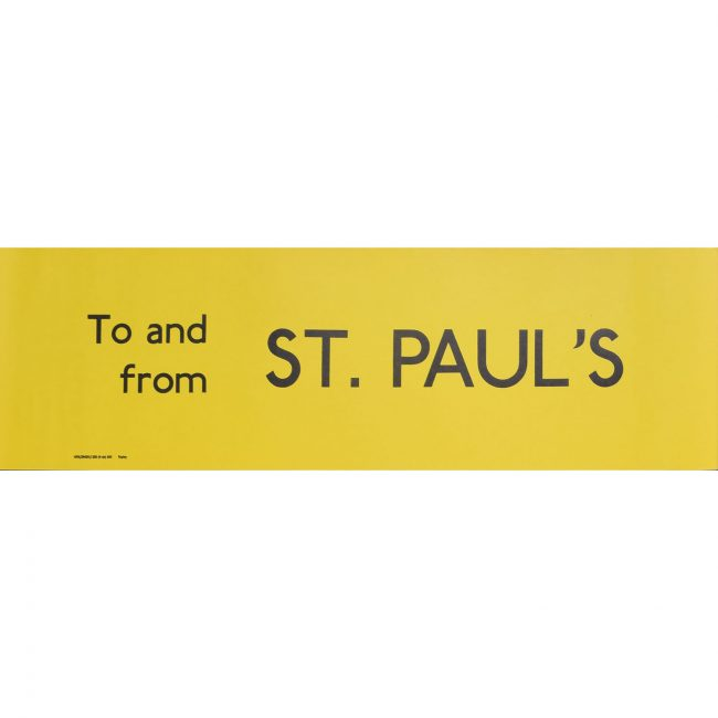 St. Paul's London Transport Bus Blind