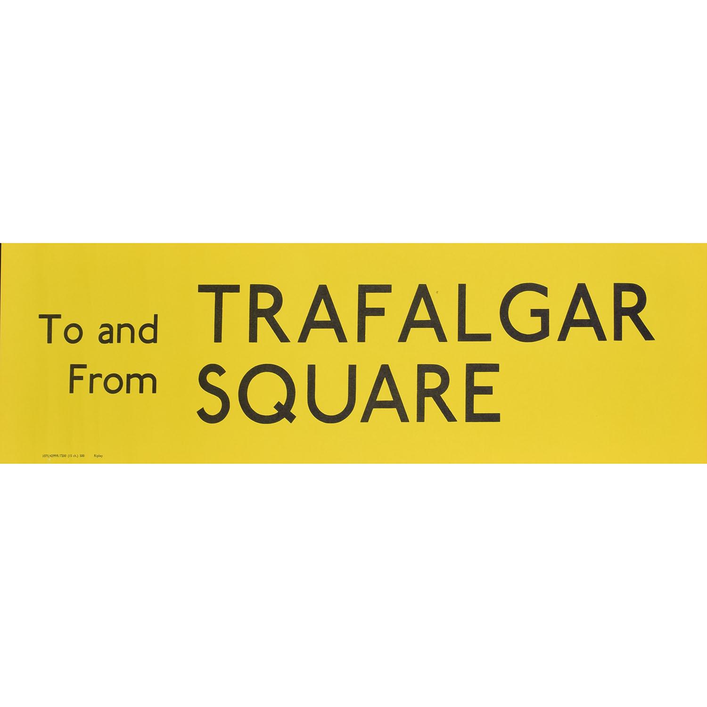Trafalgar Square Routemaster Slipboard Poster c1970