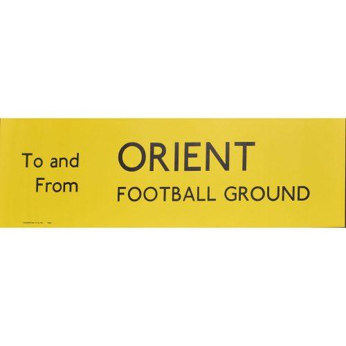 Orient Football Ground Routemaster Slipboard Poster c1970