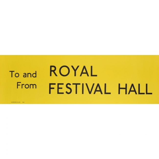 Royal Festival Hall Routemaster Slipboard Poster c1970