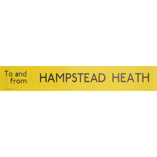 Hampstead Heath Routemaster Slipboard Poster c1970