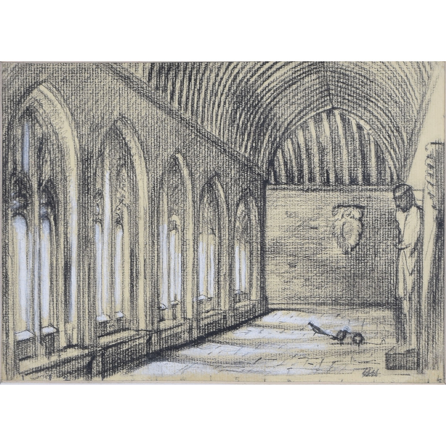 Hubert Hennes New College Oxford (sketch)