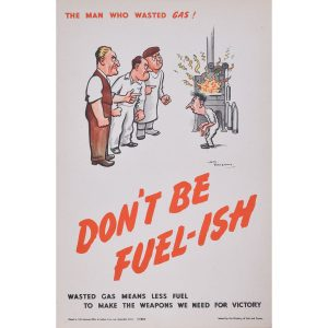 H. M.Bateman Don't be Fuel-ish (the man that wasted gas)