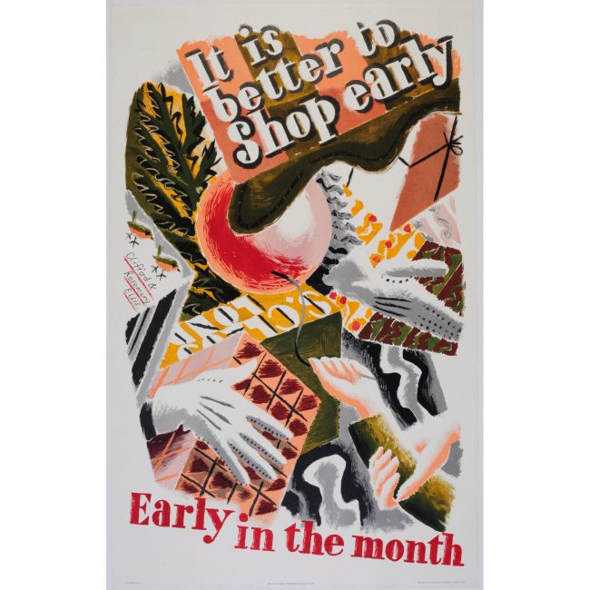 Clifford and Rosemary Ellis - poster for London Transport - Early in the month