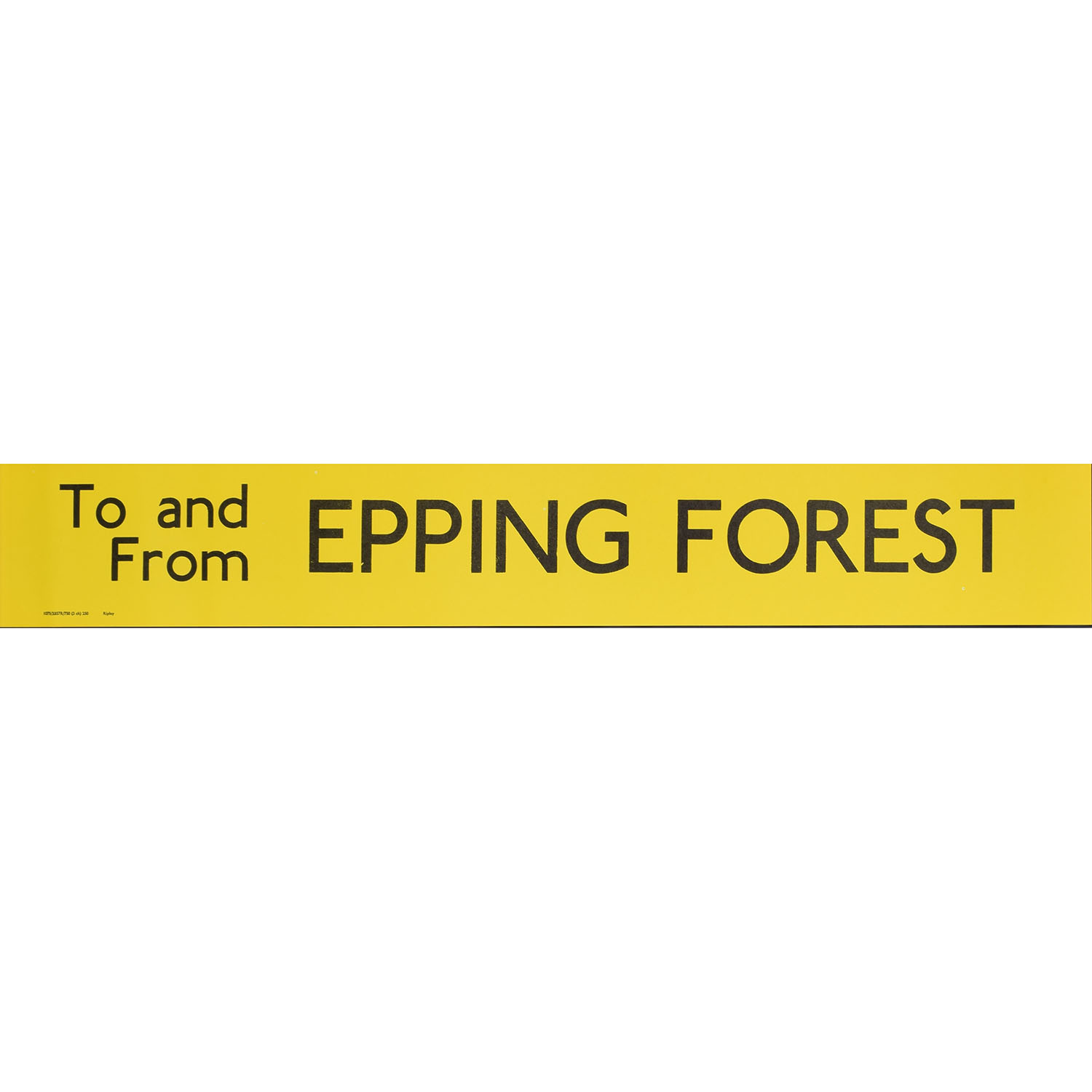 Epping Forest Routemaster Slipboard Poster c1970