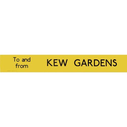 Kew Gardens Routemaster Slipboard Poster c1970