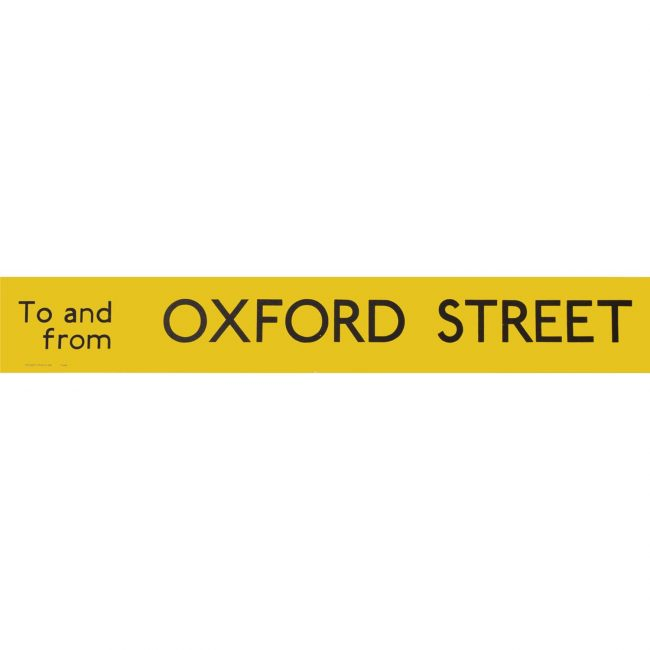 Oxford Street Routemaster Slipboard Poster c1970