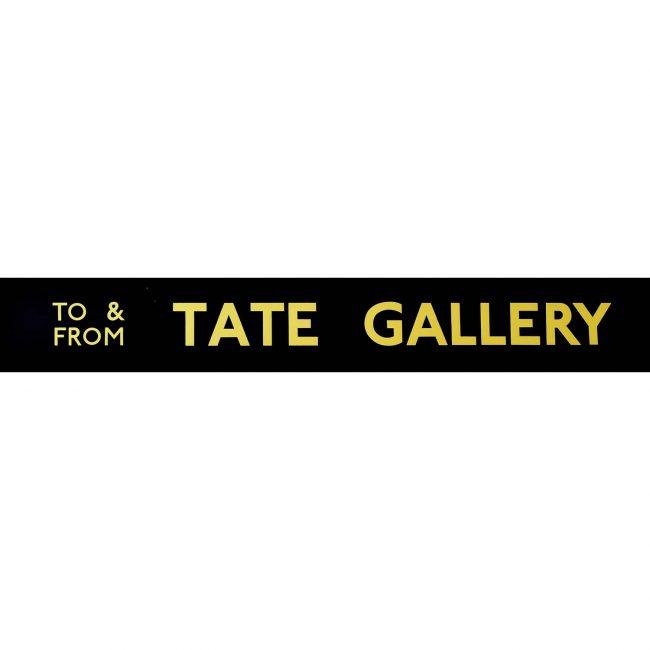 Tate Gallery Routemaster Slipboard Poster c1970