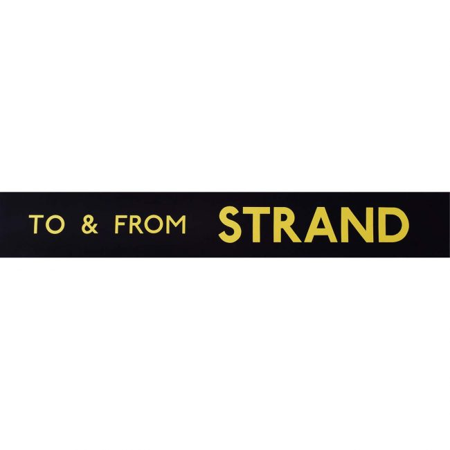 Strand Routemaster Slipboard Poster c1970