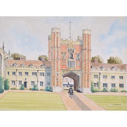 J T Neville Trinity College Great Court Cambridge