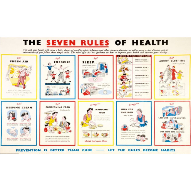 Seven Rules of Health poster