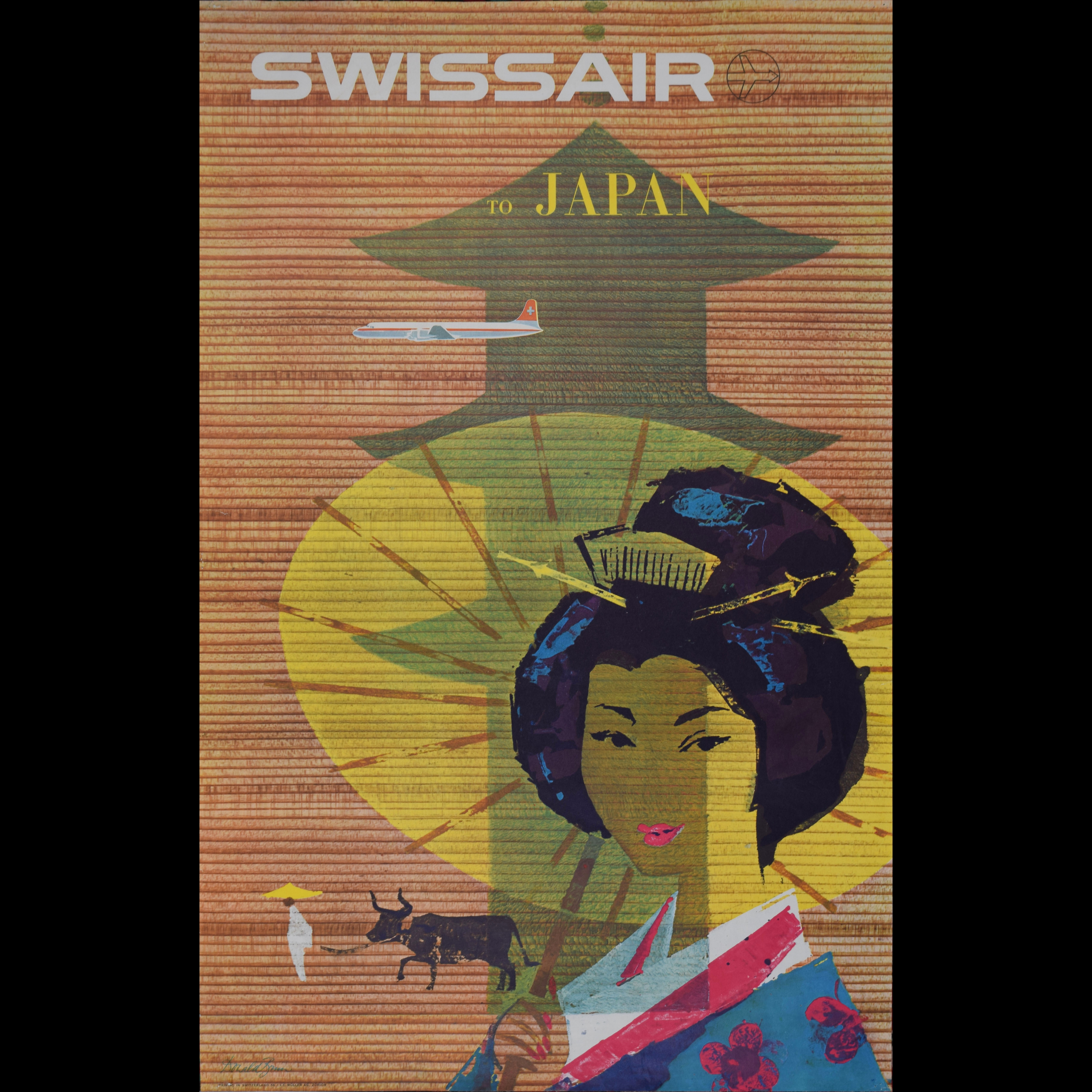 Donald Brun Swissair to Japan