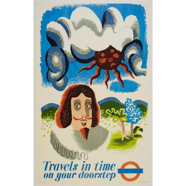 Clifford and Rosemary Ellis - Travels in Time original poster for London Transport (1937) for sale
