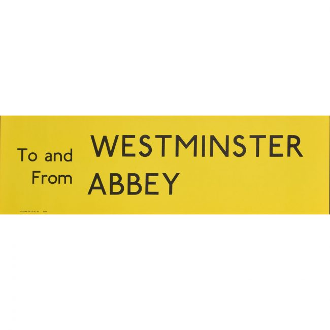 Westminster Abbey London Transport Bus Blind