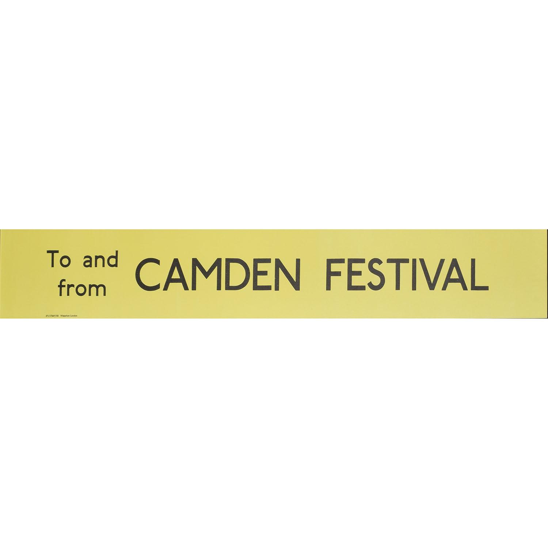 Camden Festival Routemaster Slipboard Poster c1970