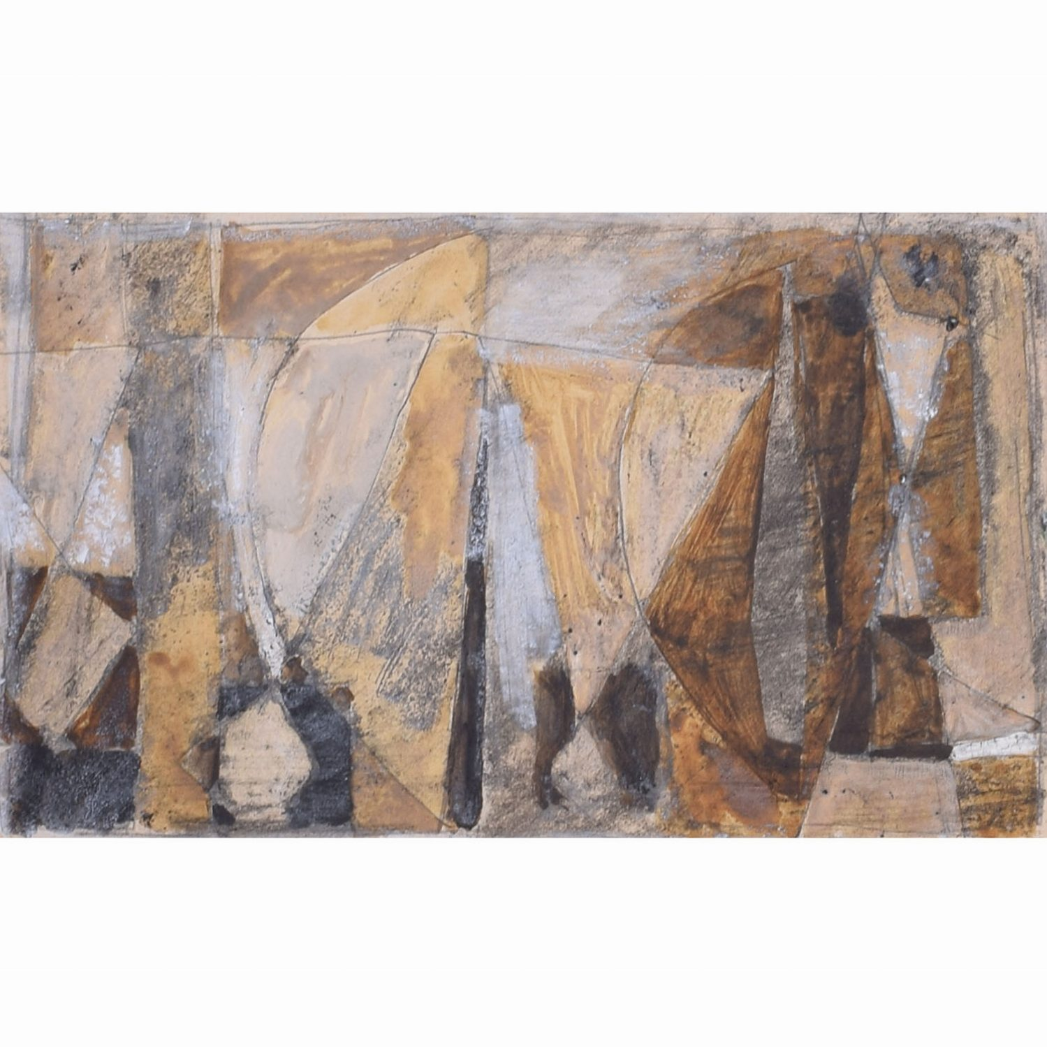 Clifford Ellis Sailing Boats in Ochre