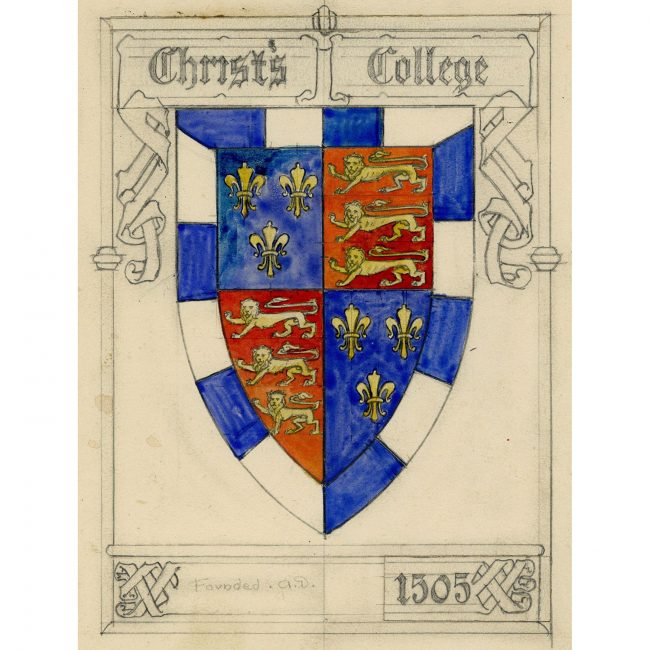 Florence Camm Christ's College Cambridge Crest
