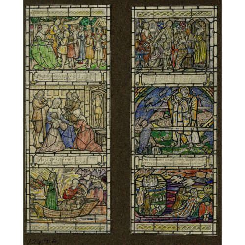 Florence Camm Scenes to a Wesley Hymn Stained Glass Window Design