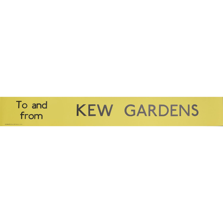 Kew Gardens Bus Blind Poster