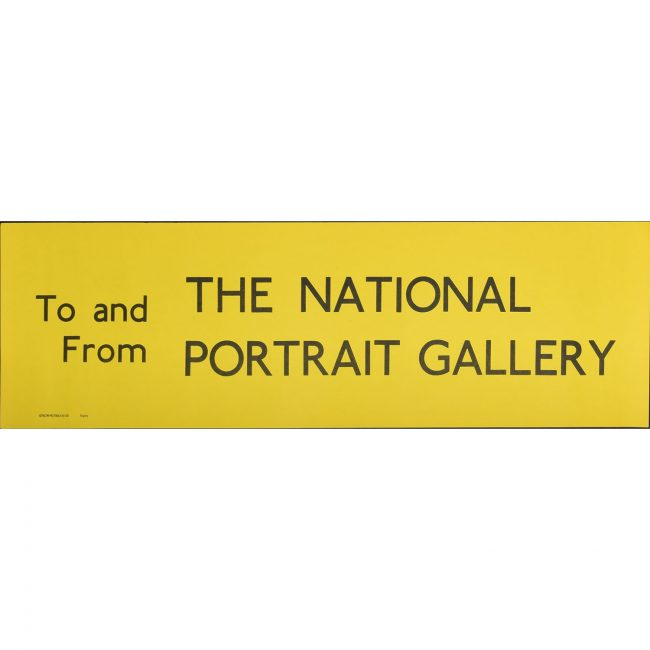 National Gallery Bus Blind