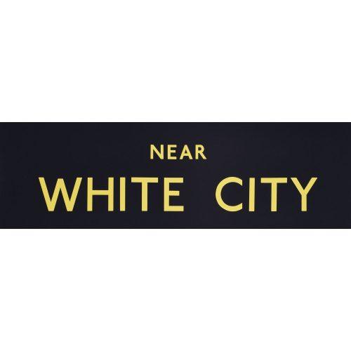 White City Routemaster Slipboard Poster c1970