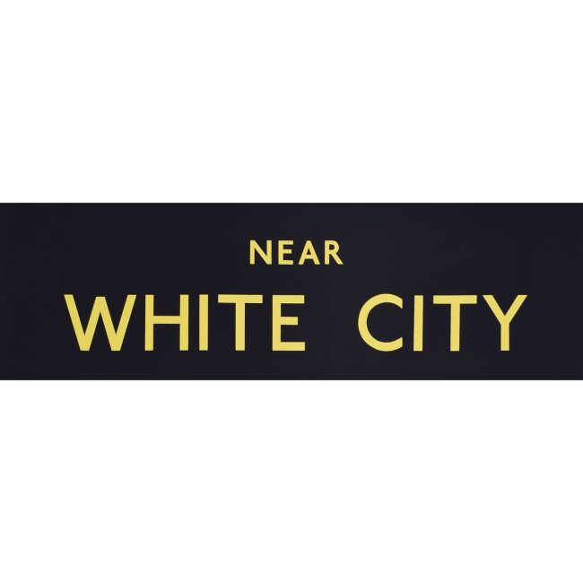 White City Routemaster Slipboard Poster c1970