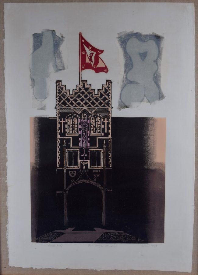 Walter Hoyle Jesus College Cambridge Linocut for sale