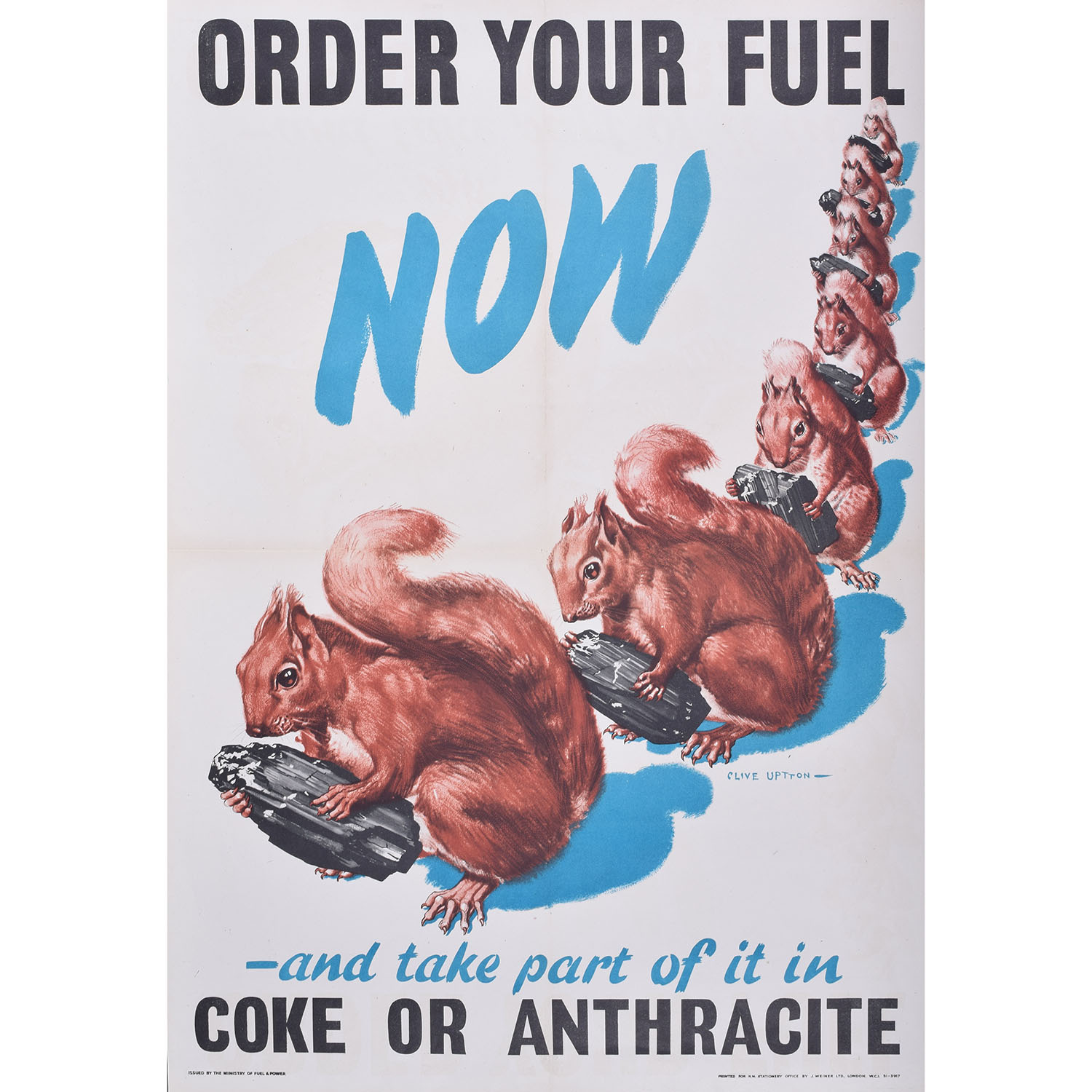 Order Your Fuel Now original vintage WW2 poster