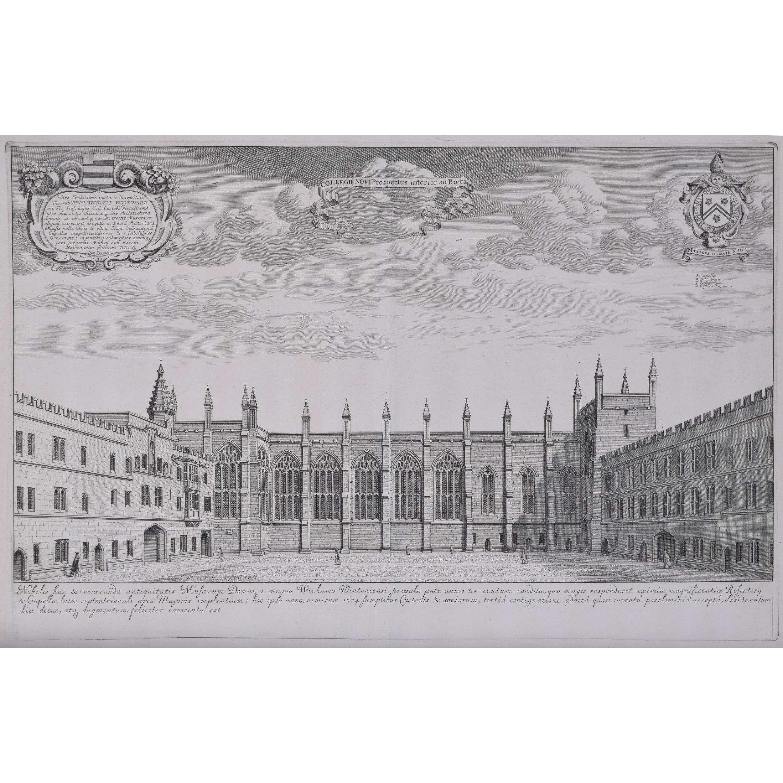 David Loggan New College Oxford engraving