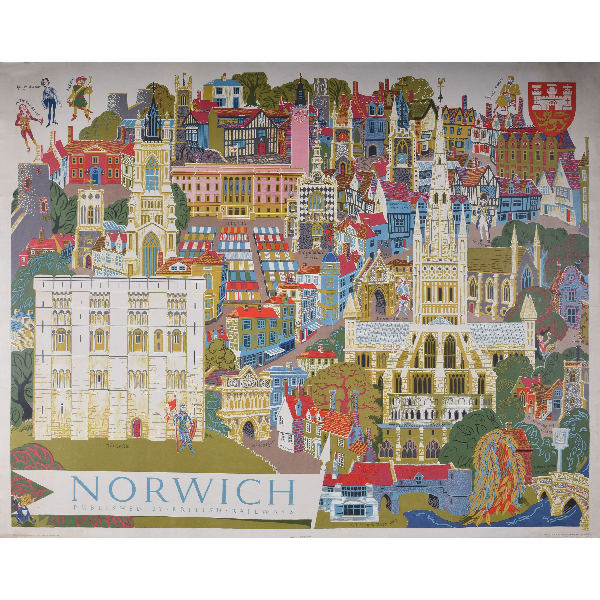 Kerry Lee Norwich poster for British Railways