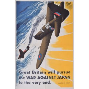 Winston Churchill Great Britain will Pursue War Against Japan to the Very End