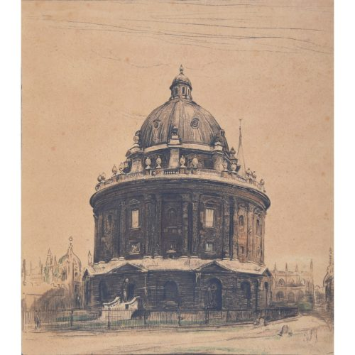 William Nicholson Radcliffe Camera Oxford lithograph c. 1905